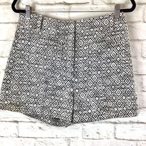 Ann Taylor Loft Tweed Diamond Print Shorts size 6